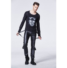 Mens Black Vegan Leather Bondage Pants Fetish Pleather Trousers Up To 4 Xl