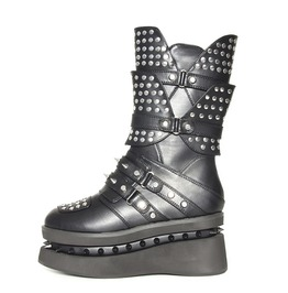 Black Spektor Gothic Glam Visual Kei Goth Platform Space Boots $9 To Ship