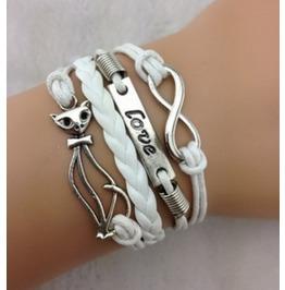 Handmade Peace Bracelet Cat Infinity Wish Bracelet