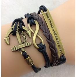 Handmade Anchor Bracelet Infinity Bracelet