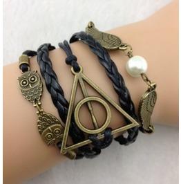 Handmade Wings Owl Bracelet Infinity Vintage Bracelet