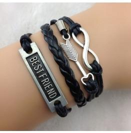 Handmade Arrow Best Friend Charm Bracelet Infinity Vintage Bracelet