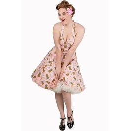 Banned Apparel This Love Halterneck Salmon Dress