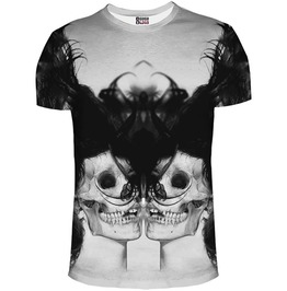 Black Skull Girl Net T Shirt