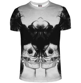 Black Skull Girl Net T Shirt From Mr. Gugu & Miss Go