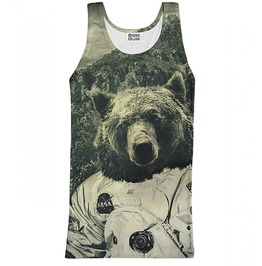Nasa Bear Tank Top From Mr. Gugu & Miss Go