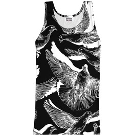 B&W Doves 2 Tank Top From Mr. Gugu & Miss Go