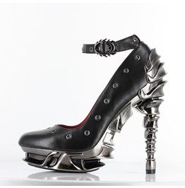 Sexy Zephyr Black Vegan Leather Steampunk Gothic Platform Stiletto Heels