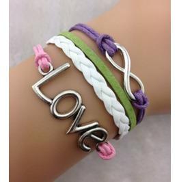 Handmade Love Charm Bracelet Infinity Bracelet