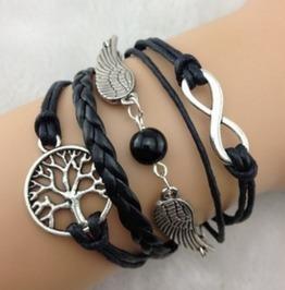 Handmade Love Charm Tree Infinity Bracelet