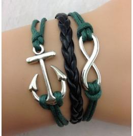 Handmade Anchor Charm Bracelet Infinity Bracelet