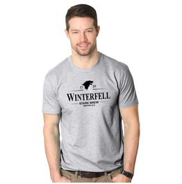 Mens Winterfell Stark Brew Winter Ale. Mens Movie Theme T Shirt.
