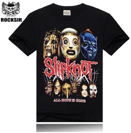 3 D Punk Fashion Street Skull Printing Men's Short Sleeved T Shirt