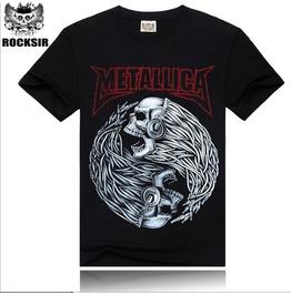 3 D Punk Fashion Street Circle Skull Printing Men's Short Sleeved T Shirt