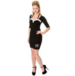 Banned Apparel Black Spiders Web Pencil Dress