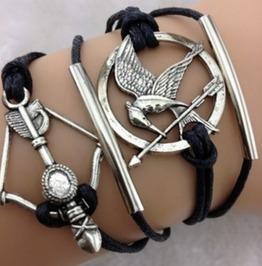 Handmade Arrow Birds Charm Bracelet Infinity Bracelet