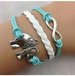 Handmade Charm Elephant Infinity Bracelet