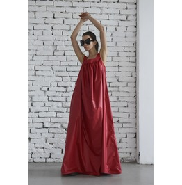 Red Kaftan/ Loose Dress/ Oversize Red Tunic/ Summer Red Dress