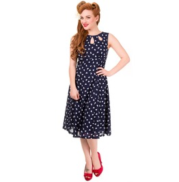 Banned Apparel Songbird Dress Blue, Red, And Green