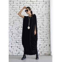 Black Kaftan / Maxi Dress / Extravagant Kaftan / Plus Size / Black Long