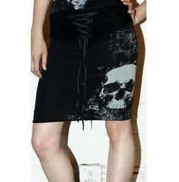 Lip Service Skeleton Xray Cybergoth Cyberpunk Laceup High Waist Skull Skirt