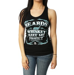 Beards And Whiskey Racerback Tank Top Black