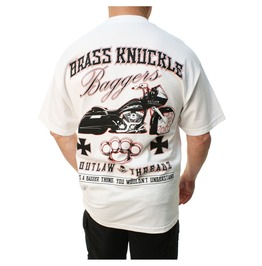 Brass Knuckle Bagger White Mens Tee