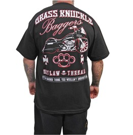 Brass Knuckle Bagger Black Mens Tee