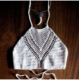 Crochet Crop Top One Size Fits Xs To M