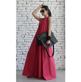 Long Pink Dress / Maxi Dress / Oversized Pink Dress / Plus Size Dress
