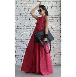 Long Pink Dress / Maxi Dress / Oversized Pink Dress / Plus Size Dress