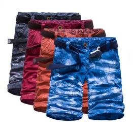 Men's Tie Dyed Camouflage Cargo Shorts Beach Shorts