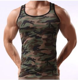 Men's Camouflage Printed Sports Tank Tops