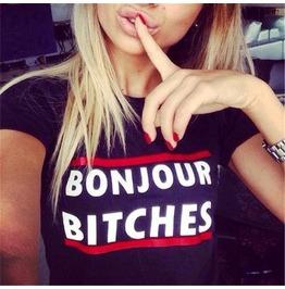 Funny Letter Print Women Fashion Summer T Shirts