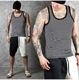 Simple Stripe Pattern Slim Tank 59