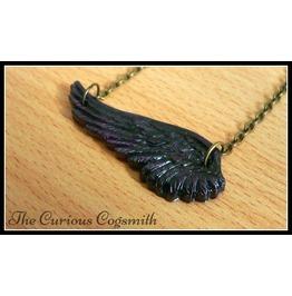 Purple & Black Wing Necklace