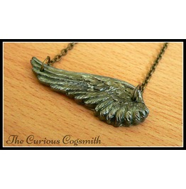 Gold & Green Wing Necklace