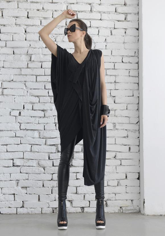 oversize_dark_grey_loose_casual_top_asymmetric_long_tunic_maxi_blouse_dresses_4.jpg