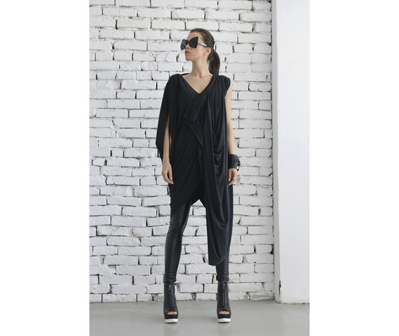 oversize_dark_grey_loose_casual_top_asymmetric_long_tunic_maxi_blouse_dresses_4.jpg