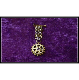 Purple Steampunk Chain Mail Medal