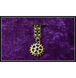 Black Steampunk Chain Mail Medal