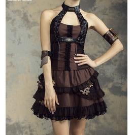 Steampunk Victorian Burlesque Corset Style Blouse Halter Top