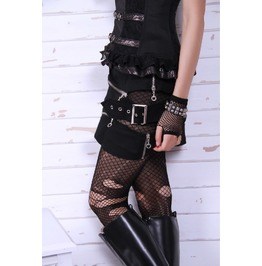 Gothic Goth Burlesque Steampunk Rock Punk Rave Black Mini Skirt By Rq Bl