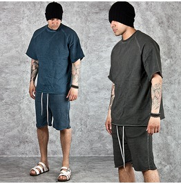 Vintage Washed T Shirts And Shorts Set 06