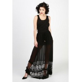 Bad Fae Sheer Overlay Maxi Skirt