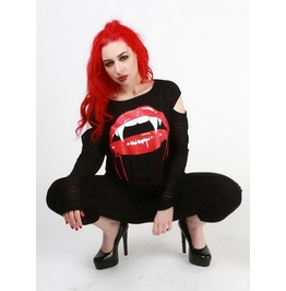 Love Bites Vampire Fang Top