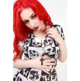 The Catacombs Skull Print Top
