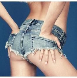 New Summer Women's Sexy Nightclub Ultra Frayed Denim Shorts Hole Shorts