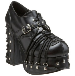 Goth Punk Lolita Platform Pump Corseted D Ring Lace Up