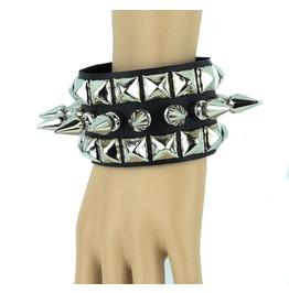 Bracelet Wristband Metal Punk Gothic